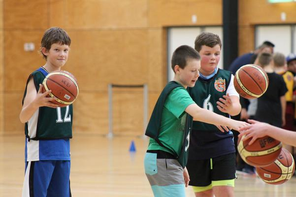 Basketball holiday coaching clinic at Trustpower Arena